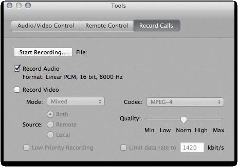 XMeeting für OS X - Perfekt für Hörfunker und andere Journalisten: Die Aufnahmefunktion