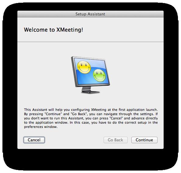 Einrichtung XMeeting - Hier geht's los