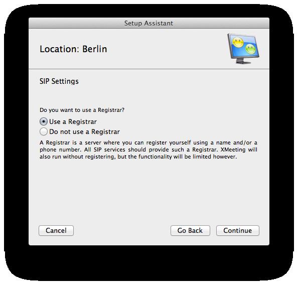 """Hier wählen wir """"Use a Registrar"""" - wir müssen uns schließlich beim Anbieter bzw. unserer Fritzbox anmelden."""