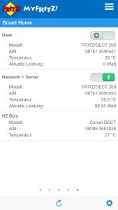 Noch zeigt die Fritz App unter iOS nur die Temperatur des Comet DECT an. Schon bald soll eine neue Version erscheinen, die auch die Steuerung erlaubt.
